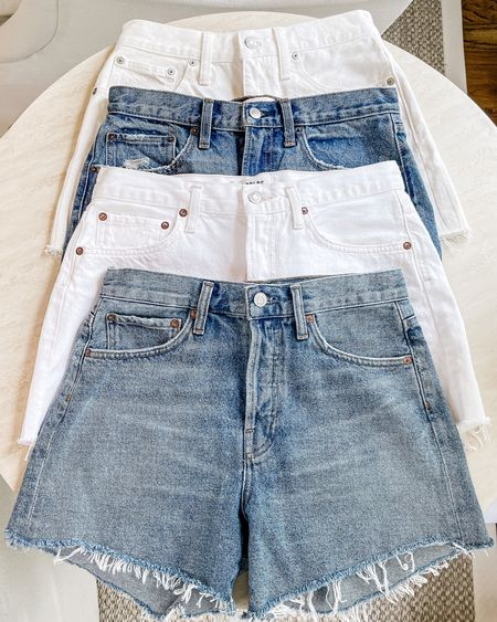 Jean short stack 🤍 These are a combination of the AGOLDE Parker long and short versions and Abercrombie shorts. Exacts and similar linked. All run TTS for me!   #jeanshort #jeanshorts #denimshorts #agoldeshorts #agoldeparker #whiteshorts #whitejeanshorts #agoldeparkerlong #summerfashion #summeressentials    #LTKunder100 #LTKSeasonal #LTKsalealert http://liketk.it/3hrqz #liketkit @liketoknow.it