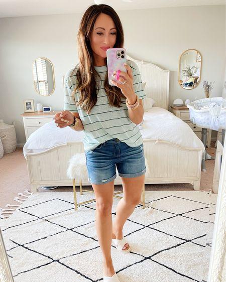 • medium tee • size 4 shorts • tts sandals   http://liketk.it/3hJ2y #liketkit @liketoknow.it