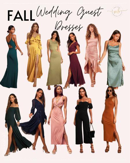 Fall wedding guest dresses under $100 from Lulus   #LTKunder100 #LTKwedding #LTKstyletip