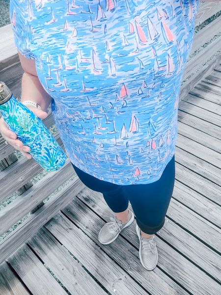 Walking today out in nature.  I love being bright ! Make sure you're more prepared than I was. My @Garmin Watch was not charged to track my #walk and I didn't put my lid on right on my water and lost half when it turned over 🙃 #livinglargeinlilly #ltkcurves #ltkfitness  #ltkday #LTKfit #LTKunder50   #liketkit @liketoknow.it http://liketk.it/3gC99