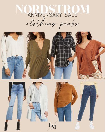 Nordstrom Anniversary sale! Clothing picks!  — Free people tops henley madewell urban outfitters straight jeans crop top   #LTKunder100 #LTKstyletip #LTKsalealert