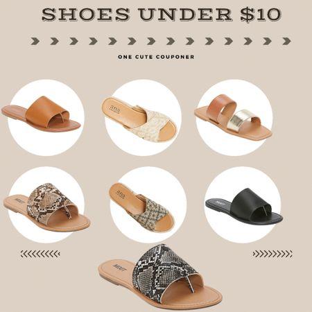 Cute slides and sandals under $10! #slides #sandals #strappy http://liketk.it/3hVOg #liketkit @liketoknow.it #LTKshoecrush #LTKsalealert #LTKunder50