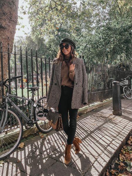 fall outfit, blazer, black skinny jeans, fall style, turtleneck sweater   #LTKSeasonal #LTKeurope #LTKunder100