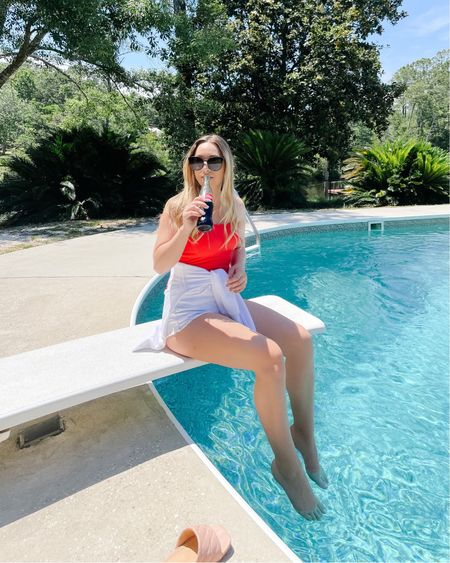 The BEST little red one piece for all summer long!!! Wearing a size small and it's the best coverage front and back for the booty. #liketkit @liketoknow.it http://liketk.it/3gCio #LTKswim #LTKstyletip #LTKunder100