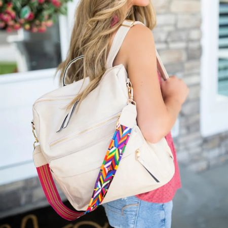I am obsessed this bag! As a mom, I love backpack bags because they are so versatile. This Dani & Em bag has a pop of color which is perfection!  It's on sale! It's the perfect leather bag for everyday.   #LTKkids #LTKsalealert #LTKitbag