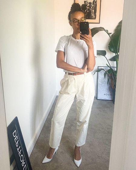 http://liketk.it/3ioPE #liketkit @liketoknow.it #ltkworkwear #workwear #summerstyle #pleatedtrousers #whitetee