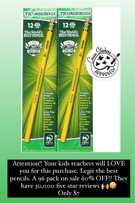 The best pencils! And an amazing deal for Amazon prime day! 96 pack of Ticonderoga pencils for seven dollars! http://liketk.it/3iaUZ @liketoknow.it #liketkit #LTKunder50 #LTKsalealert
