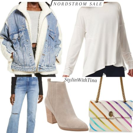 Nordstrom Sale outfit ideas. #jeansherpajacket#denimjacket #nordstromsale #booties http://liketk.it/3jGnW #LTKsalealert #LTKstyletip #LTKunder100 #LTKunder50 #LTKitbag #LTKtravel #LTKworkwear #LTKshoecrush #LTKfit #LTKfamily #LTKcurves @liketoknow.it #liketkit