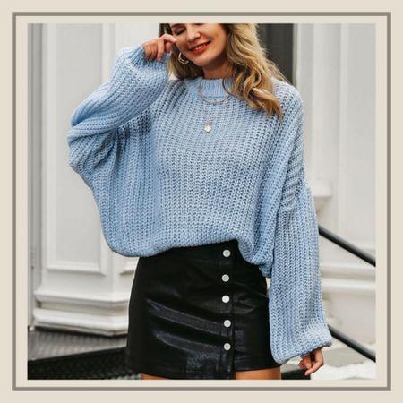 Drop shoulder chunky knit seem   #LTKunder50 #LTKstyletip #LTKunder100