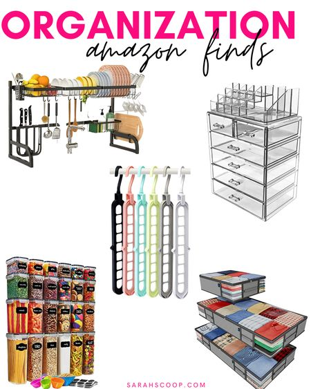 Want to be more organized? Here are some great organization products for your kitchen, bathroom, closet, and bedroom! 💗  #kitchenorganization#makeuporganization#closetorganization#clothingstorage#pantrystorage#home#housegoods#kitchenfinds#bathroomfinds#bedroomfinds#storagefinds#organization#organizationfinds#Amazon#Amazonfinds#homegoods#homeorganization  #LTKunder50 #LTKGiftGuide #LTKhome