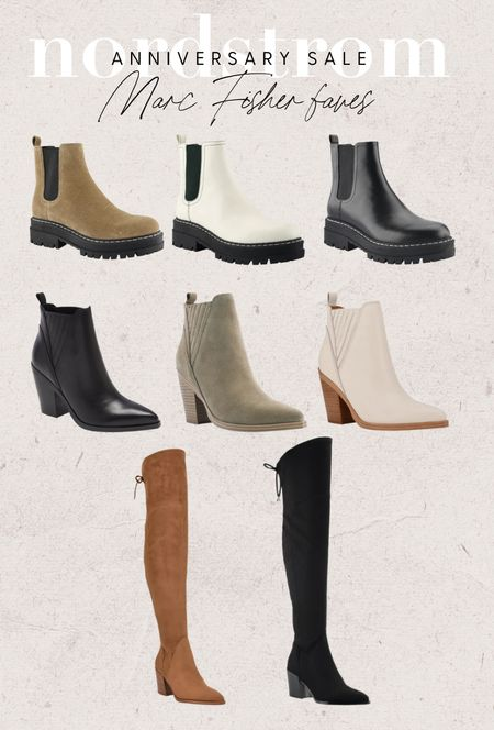 #nsale Marc Fisher favorites!   Nordstrom sale, Nordstrom anniversary sale, Nordstrom sale boots, fall boots, combat boots, Chelsea boots, otk boots