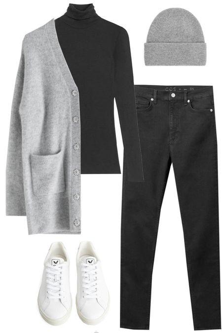 Grey cardigan outfit | winter casual | sneakers | ootd http://liketk.it/35kqo @liketoknow.it #liketkit #LTKstyletip