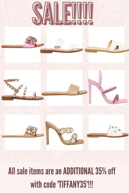 Steve Madden Labor Day SALE! All sale items are an ADDITIONAL 35% off with the code TIFFANY35! #sale #stevemadden #laborday #shoes #sandals #heels    #LTKshoecrush #LTKsalealert #LTKunder50