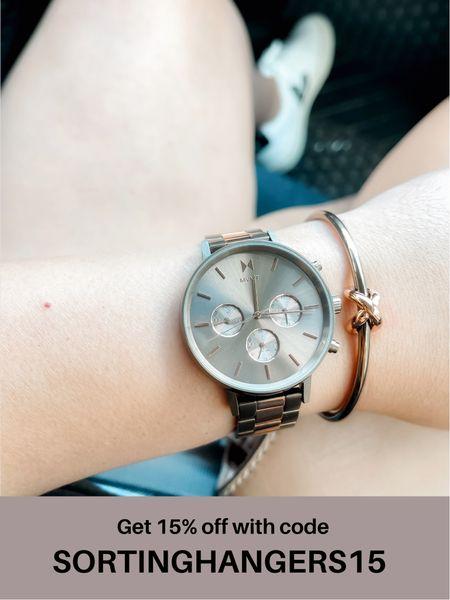 MVMT Orion Watch + knot bangle ✨   #LTKsalealert #LTKunder100 #LTKstyletip
