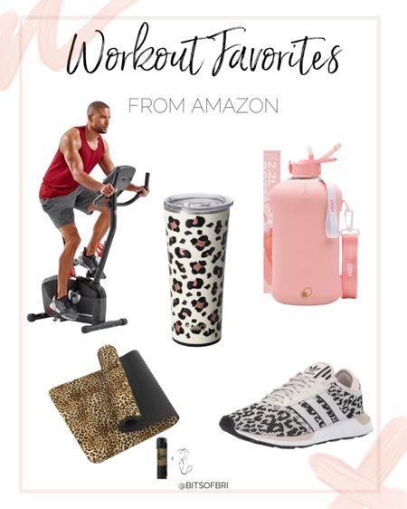 Workout favorites from amazon. Prime day. Prime day deals. Amazon prime day. Workout equipment. Exercise bike. Water bottle. Tennis shoes. http://liketk.it/3i8eR #liketkit @liketoknow.it #LTKsalealert #LTKunder50 #LTKfit
