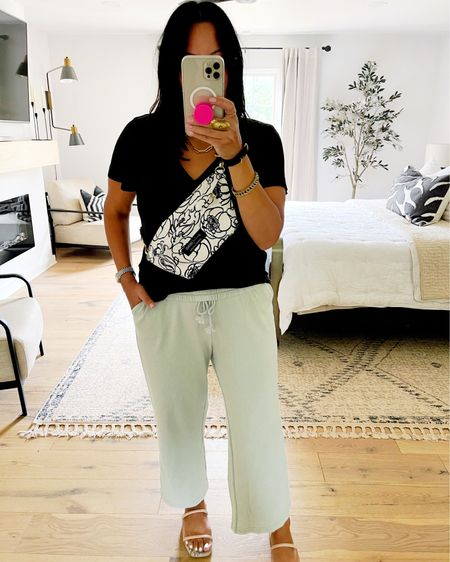 My pants are on sale! They are so comfortable! I'm between and medium and large in bottoms and went with a medium. I could have sized down to a small but I loved the loose fit of the medium. Also, if you purchase our Fanny pack, use code SPOILEDHOME10 for 10% off. http://liketk.it/3iiix #liketkit @liketoknow.it   #LTKsalealert #LTKunder50 #LTKhome