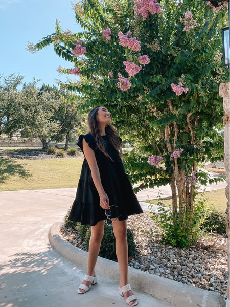 Obsessed with this black mini dress and it's the perfect length for us tall girls!   #LTKunder100