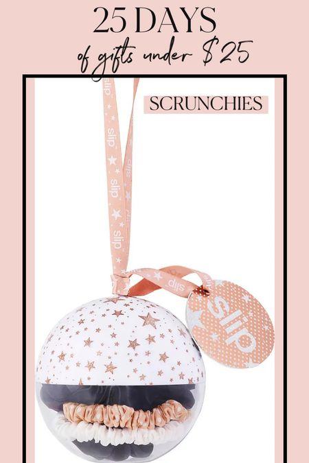 Gift ideas under $25! Scrunchies are great gifts for her! #slipsilk #scrunchies #stockingstuffers #giftsunder25 #affordablegifts  #LTKGiftGuide #LTKbeauty #LTKHoliday