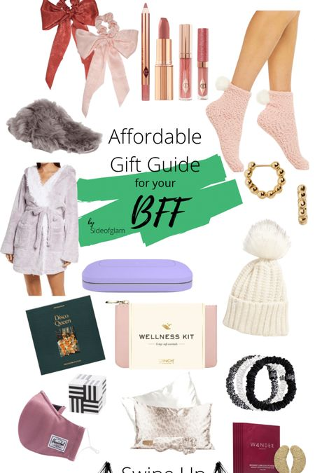 Gift guide for your best friend BFF robe slippers socks earrings wellness kit puzzle Charlotte Tillberry pillow talk set silk scrunchies silk pillowcase great for Christmas gifts and presents! Cute face mask http://liketk.it/31waH @liketoknow.it #liketkit #LTKgiftspo #StayHomeWithLTK #LTKbeauty