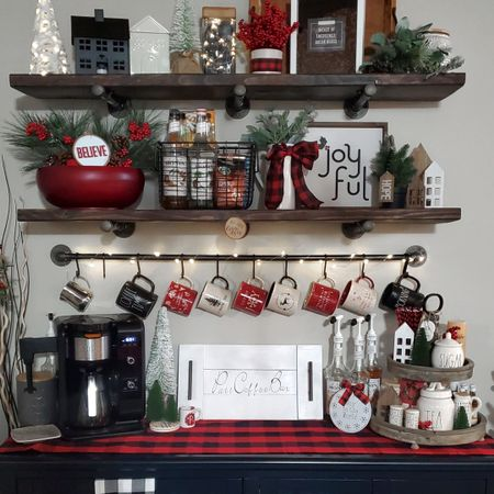 Christmas coffee bar decor  http://liketk.it/33VxP @liketoknow.it #liketkit #LTKunder50 #LTKhome @liketoknow.it.home Screenshot or 'like' this pic to shop the product details from the LIKEtoKNOW.it app, available now from the App Store!