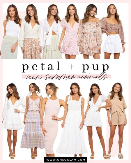 New arrivals from Petal and Pup, use code 20CHRISTINA for 20% off all of these summer tops and dresses!   #LTKSeasonal #LTKunder100