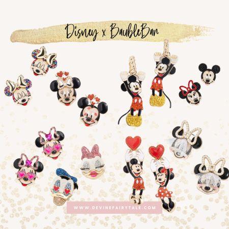 http://liketk.it/36UFo #liketkit @liketoknow.it Disney x BaubleBar Collection 💗 Mickey Minnie Donald Daisy Earrings
