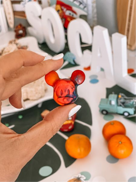 The cutest Mickey Mouse crayons - comes in a pack of five and inexpensive!! We used these as part of the favors   #LTKfamily #LTKbaby #LTKkids