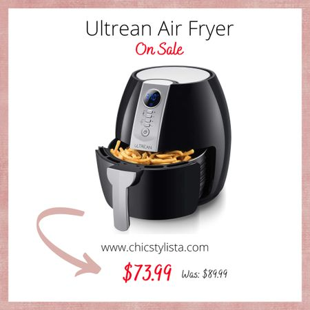 The Ultrean Air Fryer is now on sale and available for prime delivery. It has a LCD Digital Screen and nonstick frying pot.This is a must-have kitchen gadget! http://liketk.it/2SAgO @liketoknow.it #liketkit #amazon #LTKunder100 #LTKsalealert #LTKhome #sale
