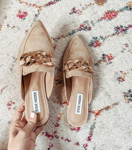 Mules are great shoes for transition weather. They're also great for when you want to slip on something fast, but still look dressy. These are Steve Madden's Pointed Toe Mules. The plaid one is now 39% off @ Nordstrom   #LTKshoecrush #LTKstyletip #LTKunder100