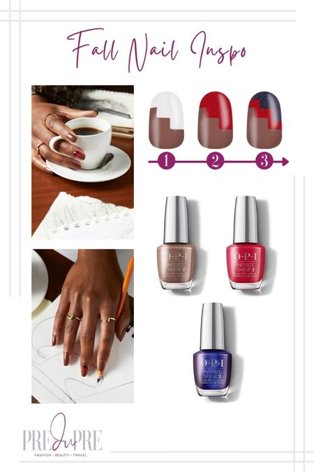 Dress up for the fall season not just with stylish clothing, but with the smallest detail too - your nails. Read more about how to create these gorgeous nails at www.predupre.com  http://liketk.it/3n06R  nail art, nail inspiration, nail inspo, fall inspo, fall style   #LTKstyletip #LTKSeasonal #LTKbeauty