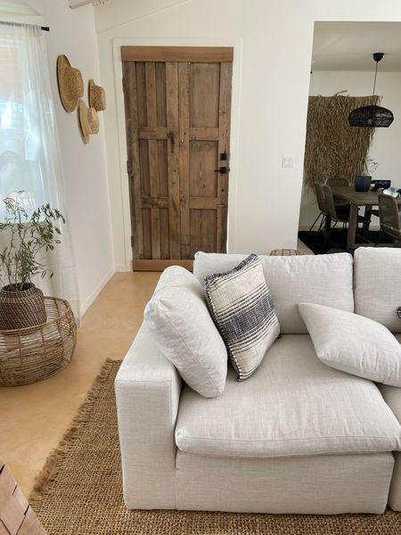 Living room decor, white couch, modern farmhouse decor   #LTKhome #LTKHoliday #LTKGiftGuide