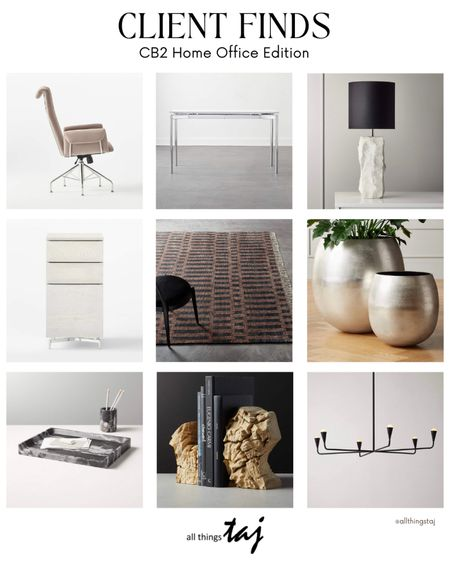 Hi everyone, I've been doing quite a few home office consultations in the recent weeks and I'm sharing below my favorite client finds from CB2. Check it out and let me know if you have any questions on office decor and space planning. Can you feel the vibe of the space? 😌