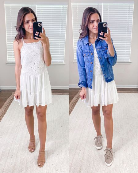 Lulus haul // eyelet lace mini dress (tts) http://liketk.it/3hnLN #liketkit @liketoknow.it #LTKunder50 #LTKstyletip