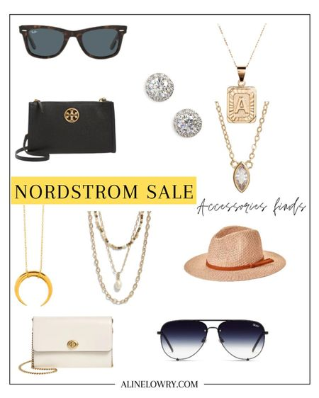Nordstrom anniversary sale home picks!    Initial pendant necklace, bead e chain layered necklaces, aviator sunglasses, zirconia stud earrings, wayfarer sunglasses, crossbody bag, leather crossbody bag    #LTKstyletip #LTKwedding #LTKtravel