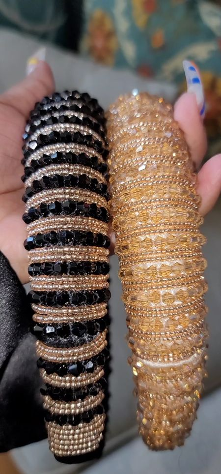 Rinestone beadbands  Amazon  Accessories  jewels  sparkle  beads  hair accessory  #LTKunder50 #LTKSale #LTKsalealert