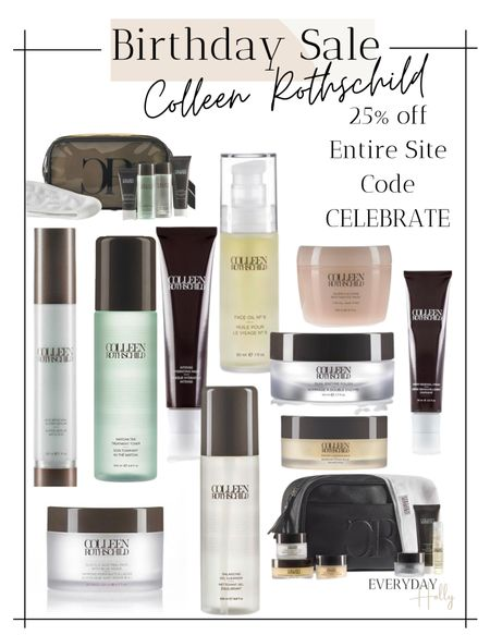 Today is the start of Colleen Rothschild's Birthday Sale starts today 9/20 - 9/26 Save 25% Off Site-Wide with CODE: CELEBRATE I love CR skincare!  It's the best of the best and these are the products that I use and recommend!  #crbeauties #colleenrothschild #sponsored @colleenrothschild   #LTKsalealert #LTKbeauty #LTKunder100
