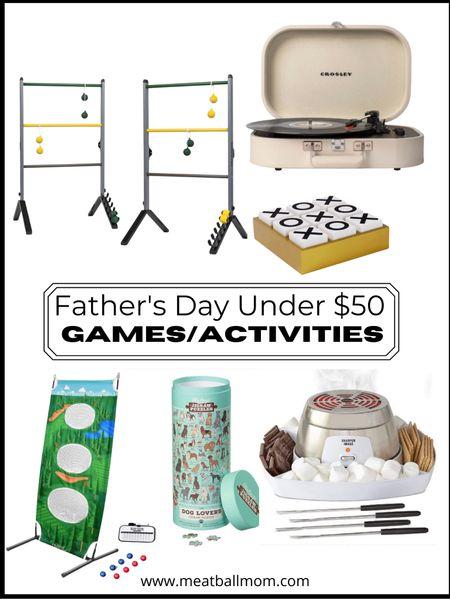 Father's Day gifts under $50: games & activities         Father's Day , Father's Day gift ideas, gifts for him, gifts for men, gifts for dad, target style, target finds, Walmart finds, #ltkfit #ltkstyletip #ltkfamily  #LTKmens #LTKunder50