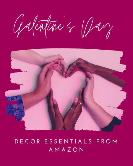 Cute decor from Amazon to amp up your Galentine's day celebration!  http://liketk.it/36Wh8 #liketkit @liketoknow.it #LTKSeasonal #LTKVDay #LTKunder50