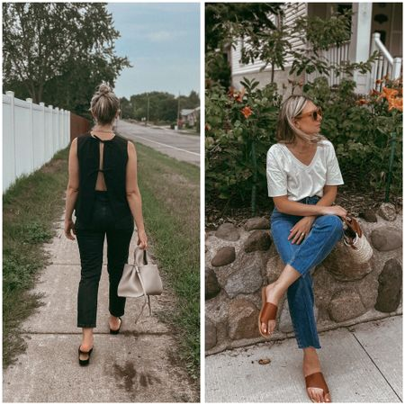 Two new looks from the new in section at Everlane! Wearing an XS in the tank, a small in the tee, a 26 in both denim styles, and both shoes run TTS.   #LTKSeasonal