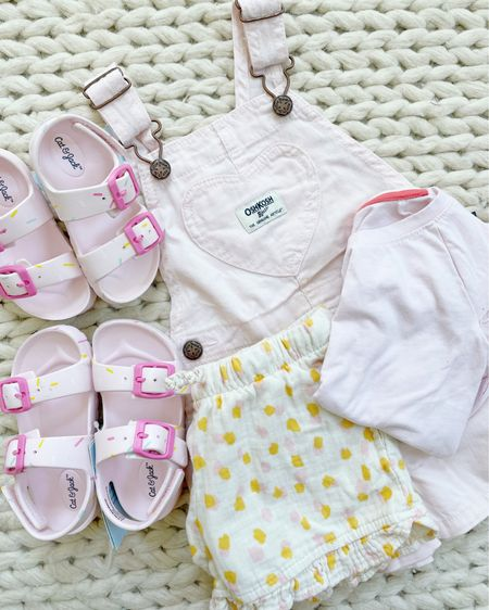 Target finds for toddler girls! Love these shoes for the pool/beach, pink short overalls (run small), great tops for daycare that I purchased in a few colors! @liketoknow.it #liketkit http://liketk.it/3fIGm #LTKfamily #LTKkids #LTKbaby