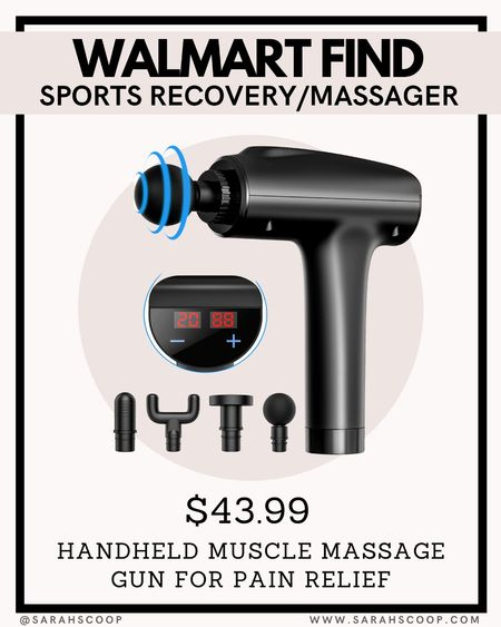 Walmart finds! A powerful muscle massager for pain relief for only $44!  #walmart #massager #electronic #sports #deal