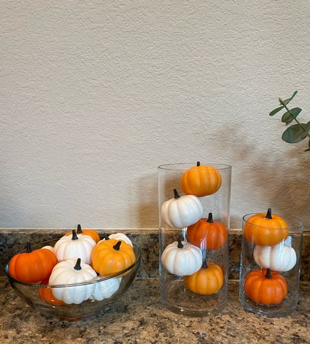 Halloween holiday decor perfect to add that festive touch. Orange pumpkins and white pumpkins    #LTKHoliday #LTKhome #LTKSeasonal