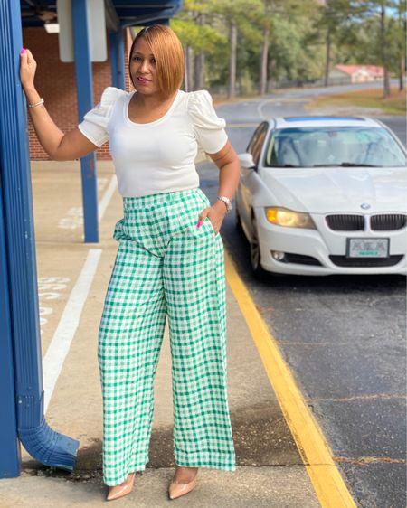 Gingham Wide Leg Pants http://liketk.it/32Bho #liketkit @liketoknow.it