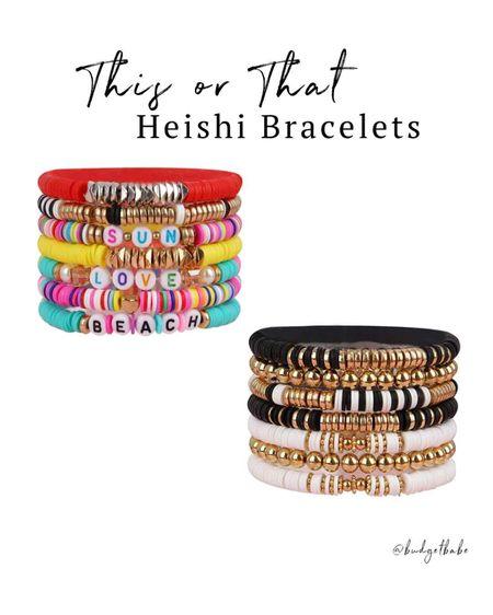 Bright or neutral, heishi bracelets are trending for summer http://liketk.it/3h9AI #liketkit @liketoknow.it #LTKunder50