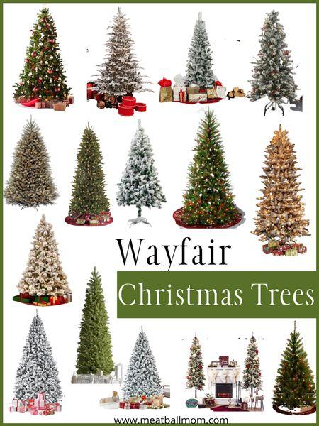 Wayfair Christmas Trees             Christmas decor, artificial trees, Wayfair, holiday decor, #ltkholidaystyle Christmas trees. Christmas decorating #stayhomewithltk   #LTKhome #LTKsalealert #LTKFall http://liketk.it/2Z4hG #liketkit @liketoknow.it