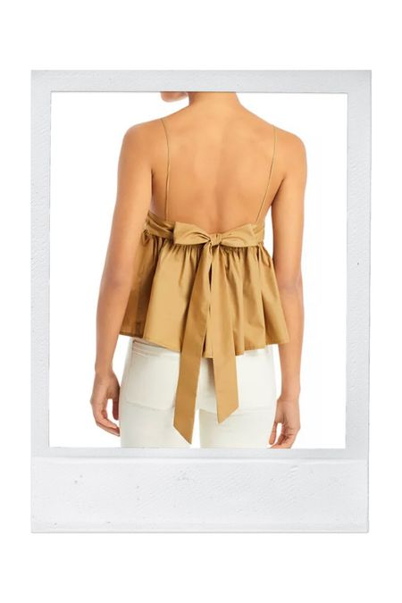 The tie-back top from yesterday's stories. Under $75!
