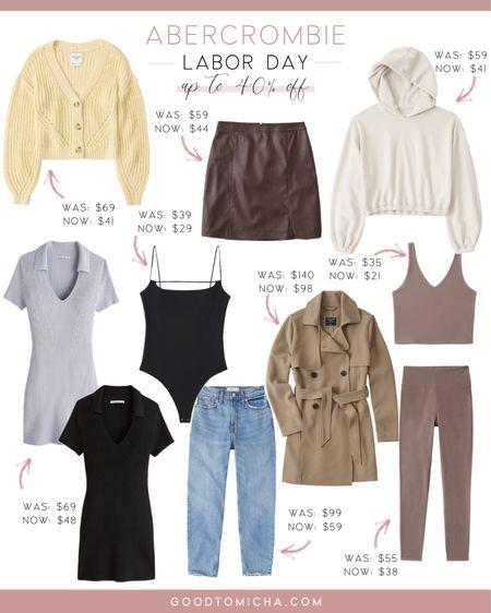 Abercrombie + Fitch Labor Day sale - sweaters, trench coats, activewear + more!  #LTKSeasonal #LTKsalealert #LTKstyletip