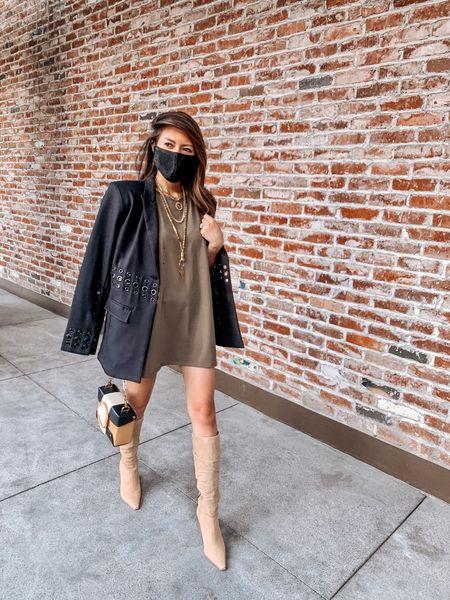 Tuesday strides ⚡️ What getting dressed looks like nowadays. #ootdpost Pants optional. Outfit details via my #linkinbio 🔝 http://liketk.it/2WBCq #LTKstyletip #LTKshoecrush #liketkit @liketoknow.it  . . . . . #maskup #oversizedshirt #oversizedtshirt #oversizedtee #blackblazer #blazer #dylanlex #blazers #blazerstyle #kneehighboots #yuzefi #falloutfits #fallfashion #mystyle #outfitinspo #streetchic #streetfashion #effortless #stylegoals #ootdwatch #casuallook #chicstyle #stylediary #everydaylook #casualchic #womeninspiringwomen #thestylizt