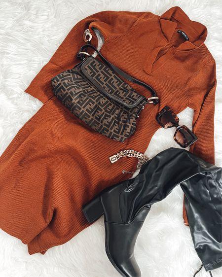 Sweater (dress) weather http://liketk.it/39WAX #liketkit @liketoknow.it #LTKstyletip #LTKcurves
