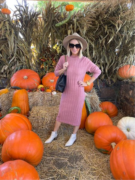 When you're the first to arrive to the pumpkin patch 🎃 this sweater dress  is under $40 and comes in other colors! A great basic!   #LTKunder100 #LTKunder50 #LTKstyletip
